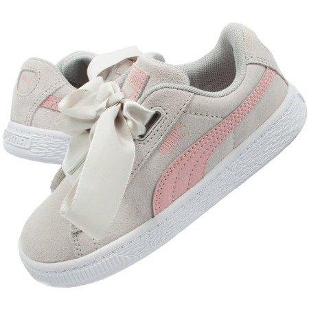 Buty Dziecięce Sportowe Puma Suede Heart Circles [370570 01]